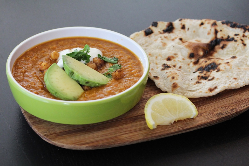DiepLiciousEgyptian Lentil soup with crispy chickpeas and ...