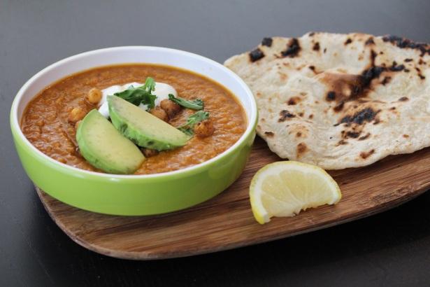 Egyption Lintel soup with roti
