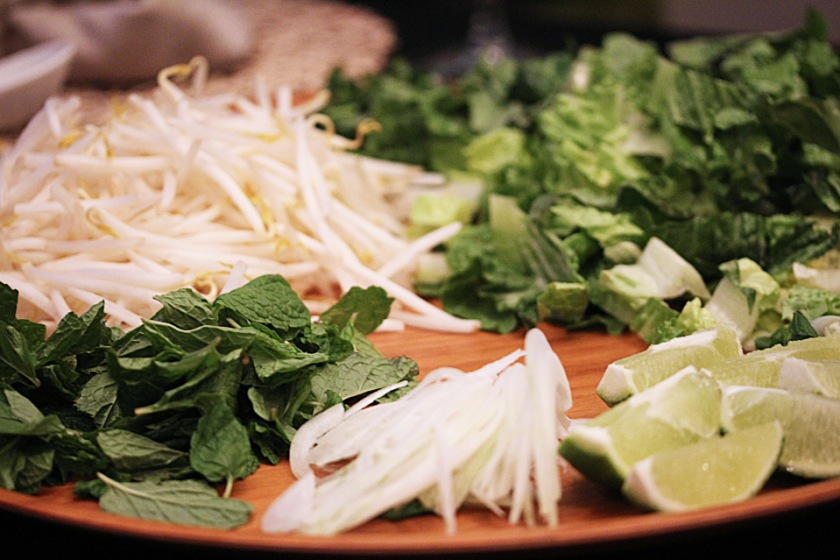 Pho ingredients
